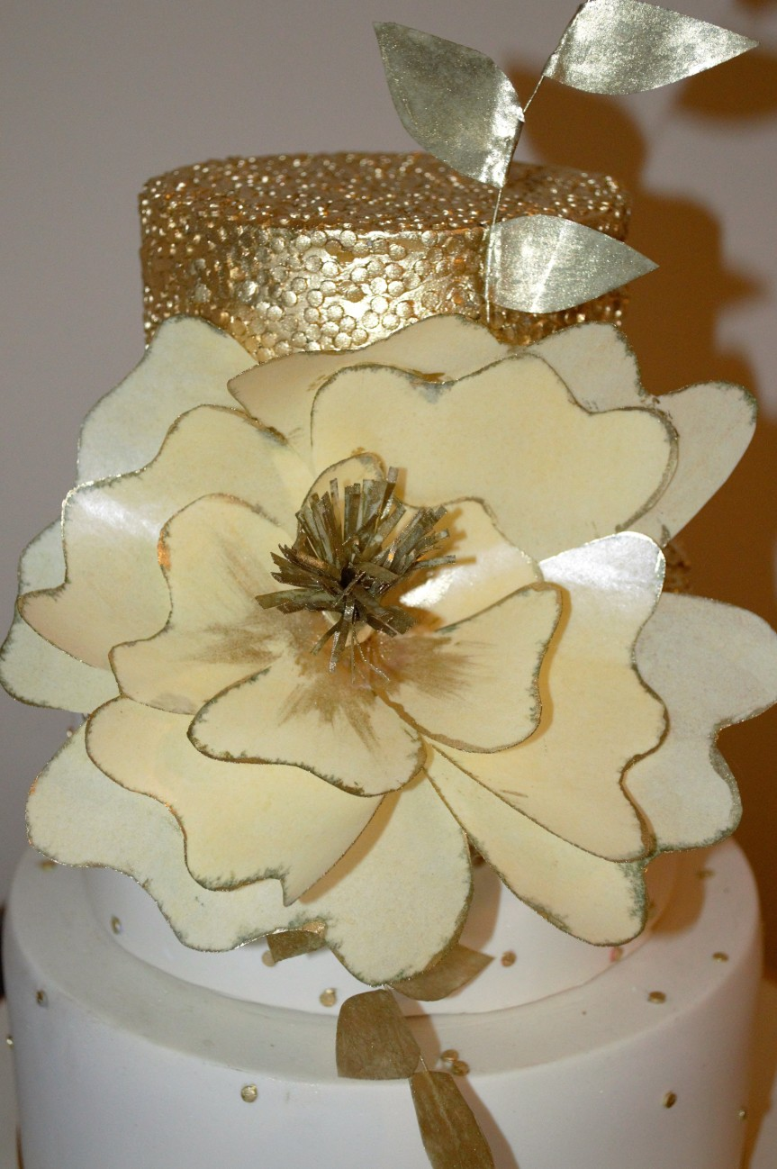 caketress wafer flower